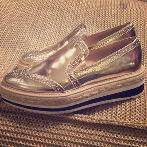 ZARA Metallic loafer